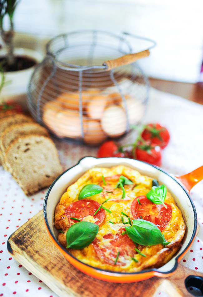 Omlet Z Pomidorami I Feta