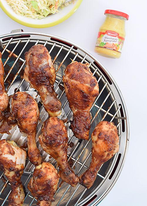 Kurczak z grilla z sałatką z grejpfruta