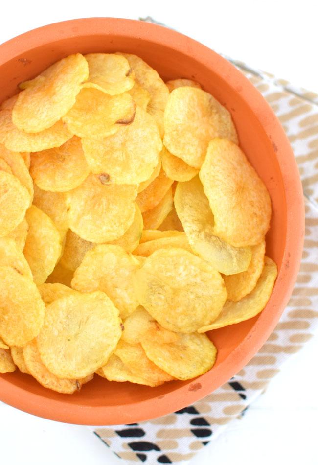 Pieczone Chrupiace Chipsy Z Ziemniakow