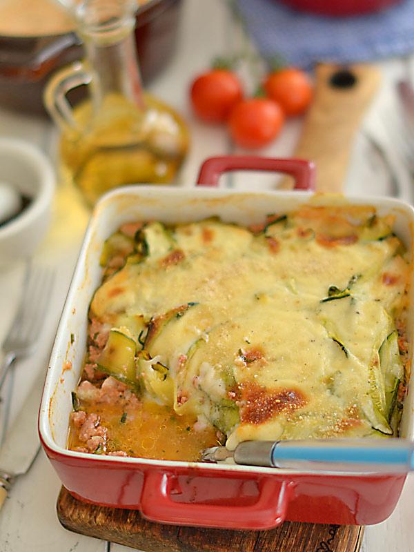 Lazania Lasagne Z Cukinii I Mielonego Miesa