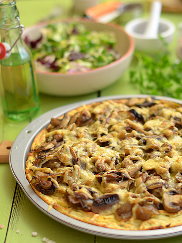 Przepis Na Pizza Z Ziemniakow Z Mnostwem Pieczarek Mniammniam Com