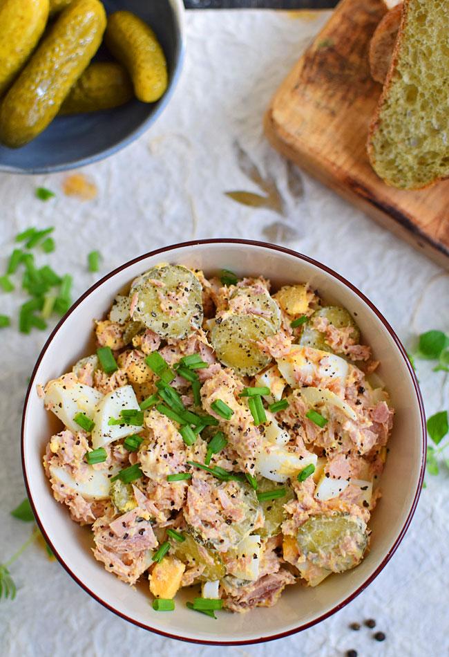 Przepis Na Salatka Z Jajek I Tunczyka Na Sniadanie Lub Kolacje