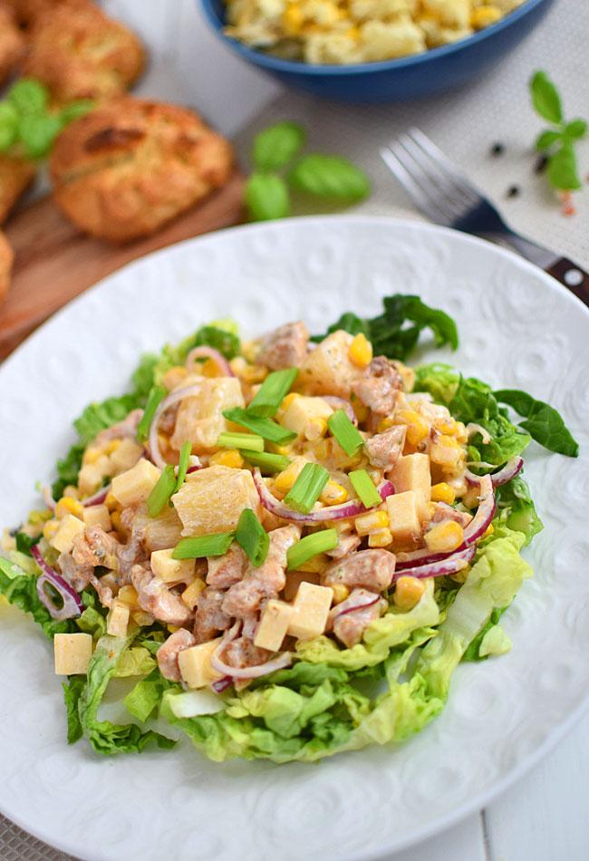 Salatka Z Kurczakiem Ananasem I Serem