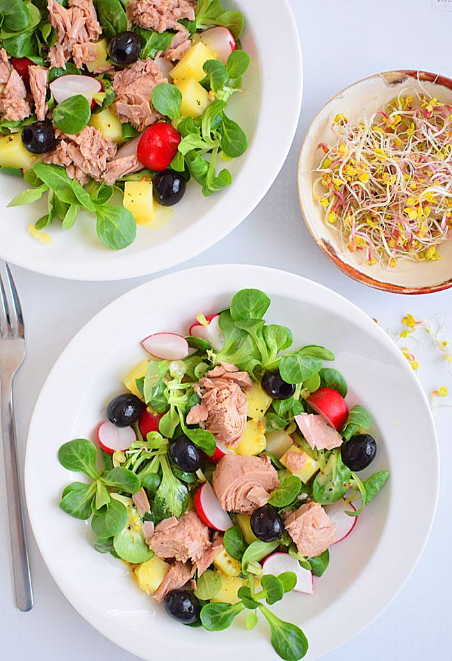 Sałatka Z Tuńczykiem Lekka Kolorowa Na Drugie śniadanie Lub
