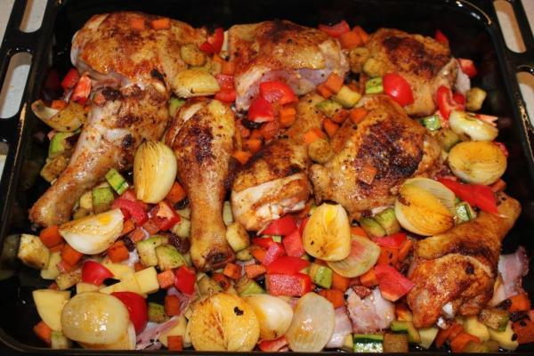 Przepis Na Kurczak Pieczony W Warzywach Mniammniam Com